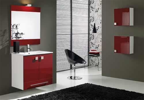 Baño Pintado De Rojo:Decoracion De Banos Con Rojo