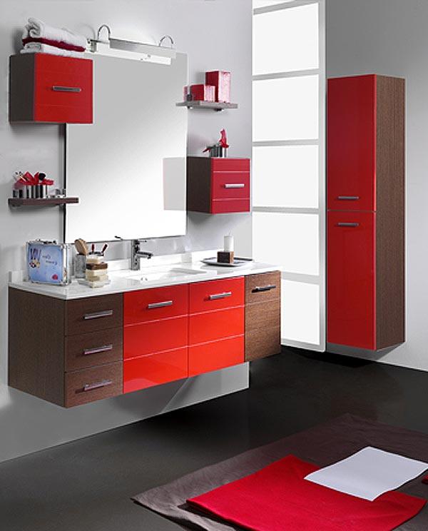 Baño Pintado De Rojo:San Fermín! Rojo y blanco para tu baño – DoorDresser