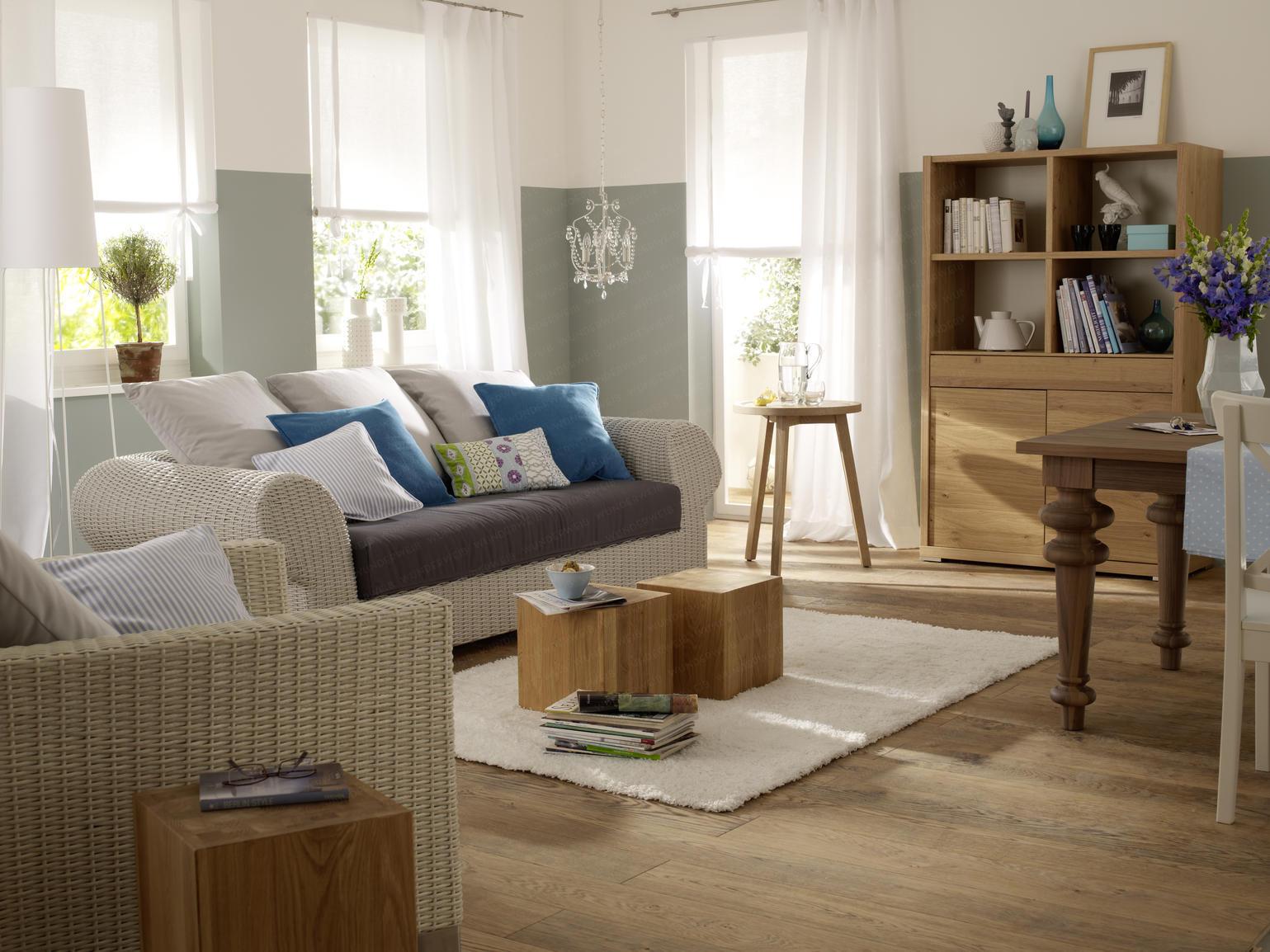 funvit.com | wohnzimmer beige grau - Landhausstil Wohnzimmer Ideen