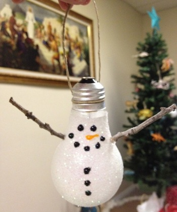 Bombilla pintada Navidad DIY