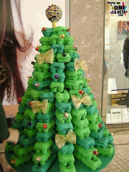 Árbol Navidad DIY cartón