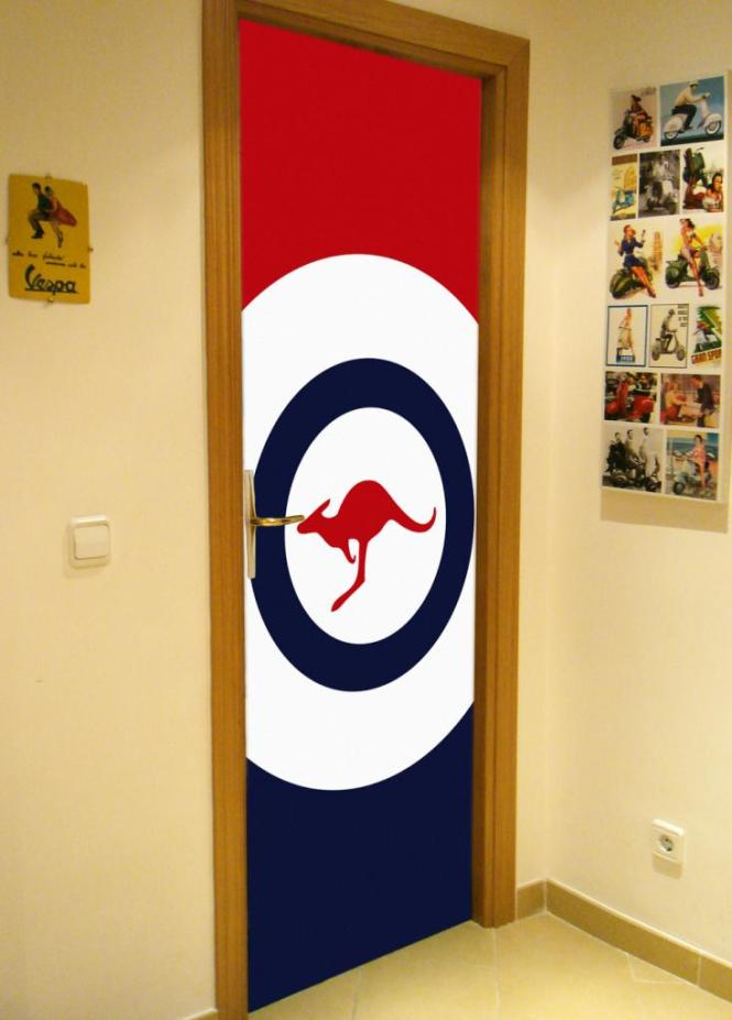 Fundas para decorar puertas Air Force Flags