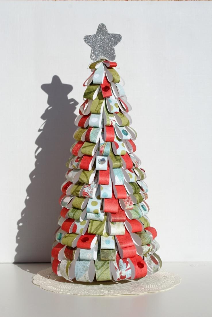 Árbol Navidad DIY papel