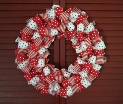 Corona Navidad DIY Lazos