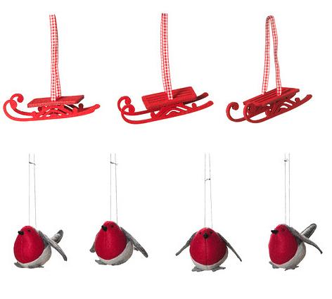 Decoración adornos de Navidad Ikea