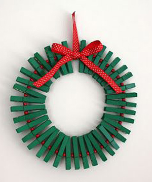Corona Navidad DIY