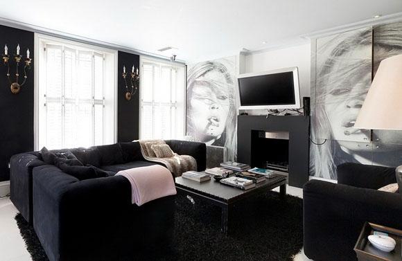 Black is black doordresser doordresser blog for Cortinas plateadas salon
