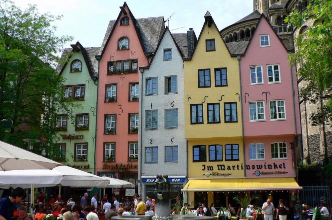 Fachadas de colores. Colonia, Alemania.
