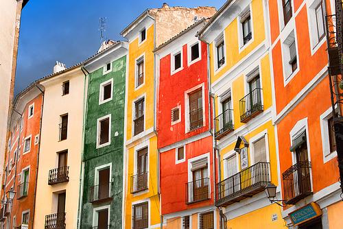 Fachadas de colores, España