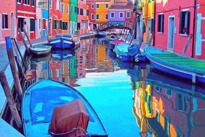Fachadas de colores. Burano, Italia