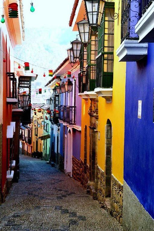 Fachadas de colores. La Paz, Bolivia