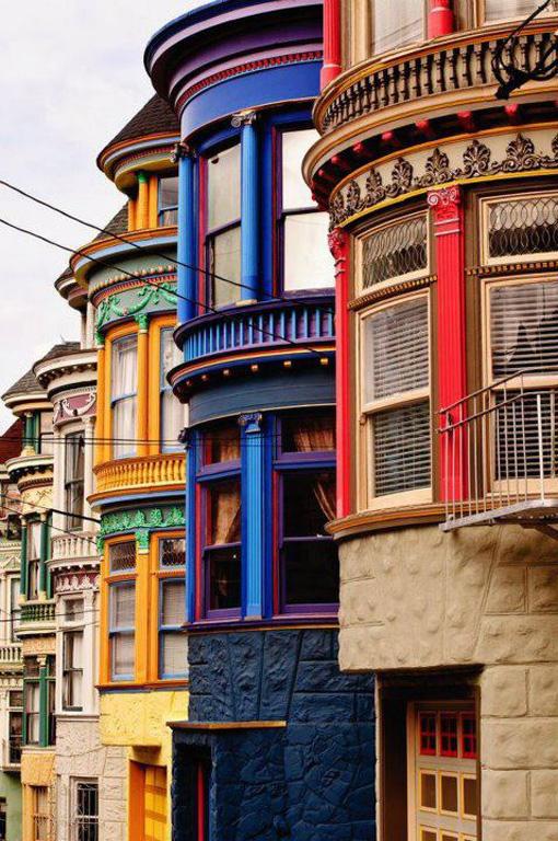 Fachadas de colores. San Francisco