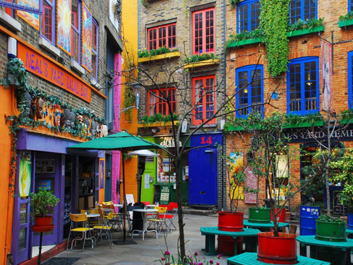 Fachadas de colores. Londres