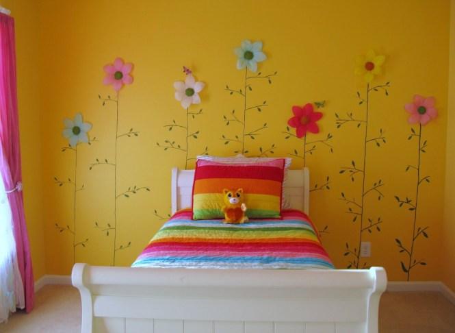 Flores de papel para pared. Decorar con flores