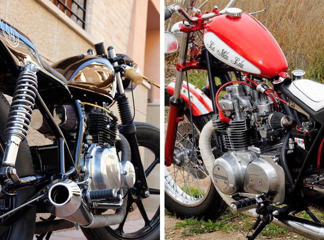 Retrocustombikes 5V. Fortyfour y La Mala Lola