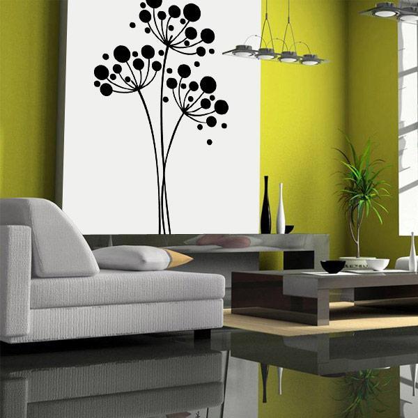 Decoracion de paredes habitaciones con vinilo circulos for Pegatinas para decorar habitaciones