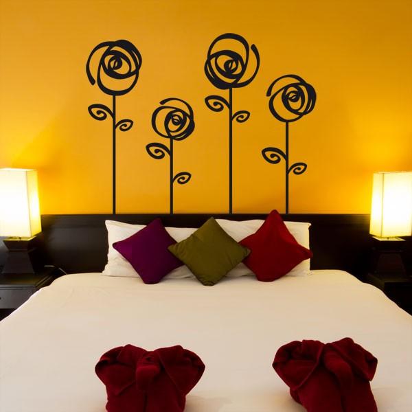 Vinilo decorativo de flores para pared. Decorar con flores